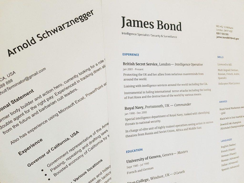 Quelles sont les différentes rubriques d'un CV ?